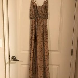 Long beaded dress, no slits